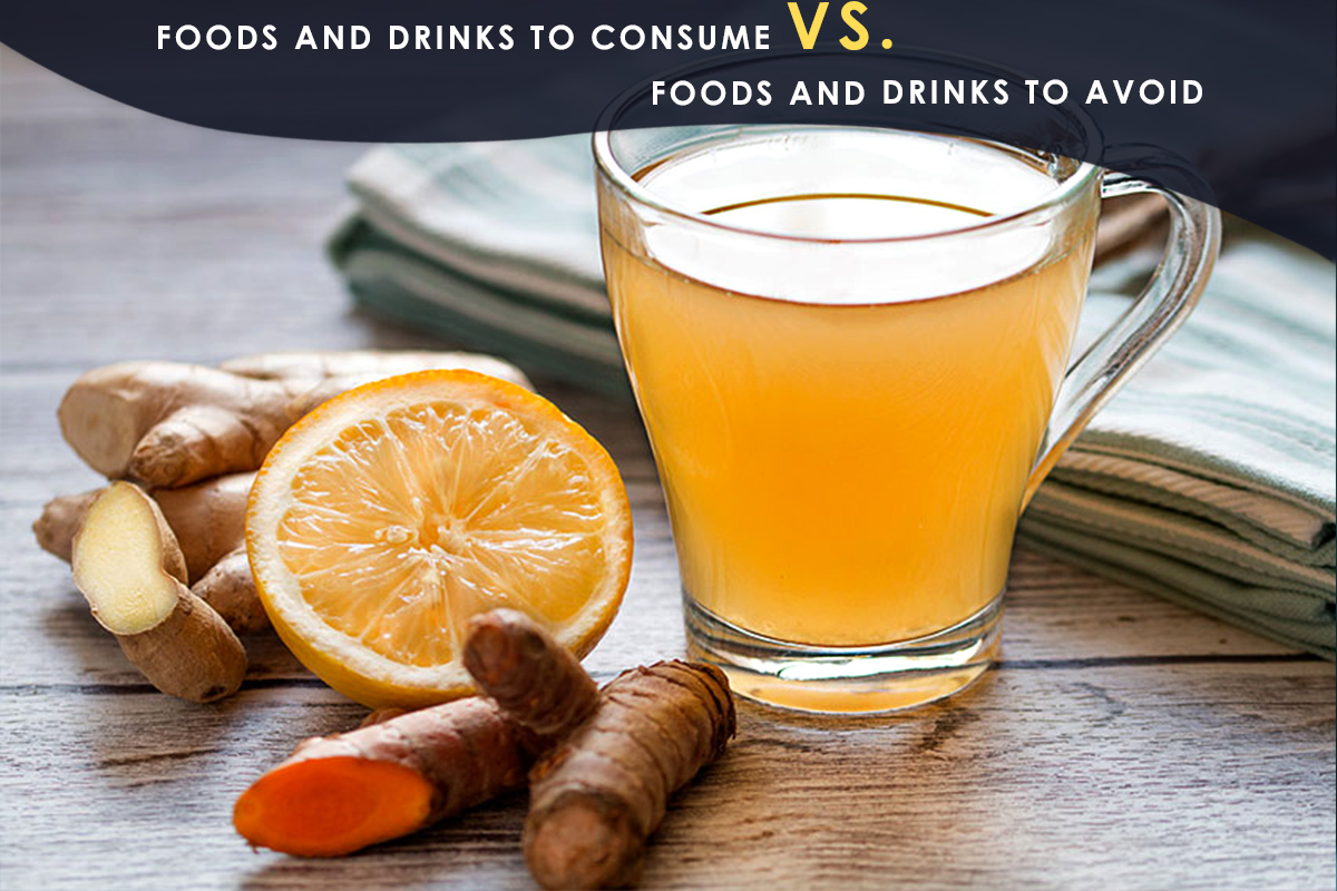 Foods and Drinks to consume Vs. Foods and Drinks to Avoid