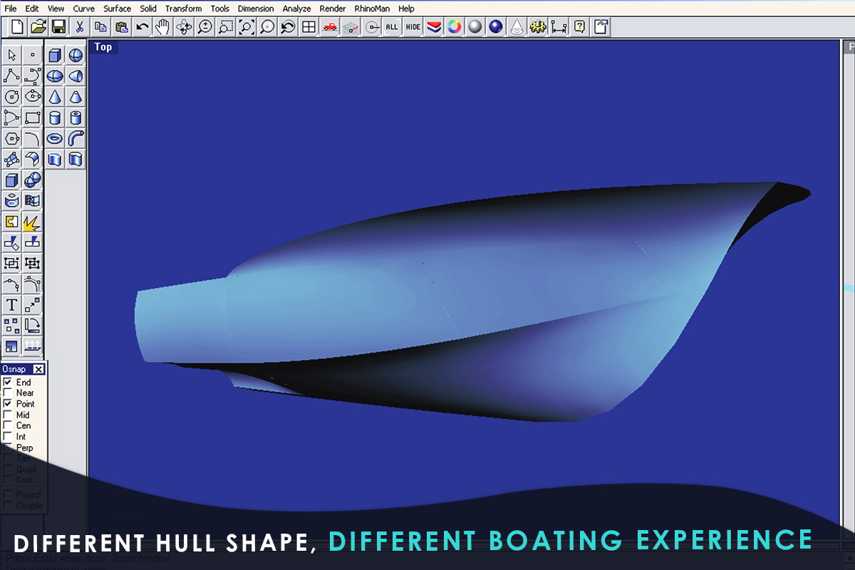 Different Hull Shape, Different Boating Experience