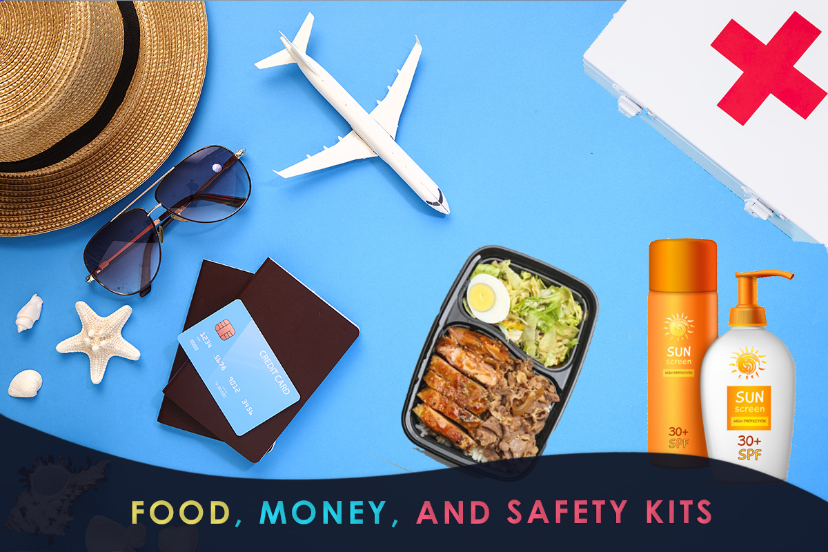Food, Money, and Safety Kits