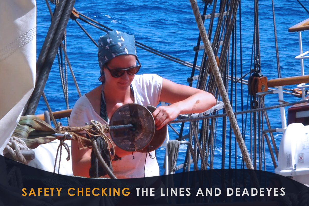 Safety Checking the Lines and Deadeyes