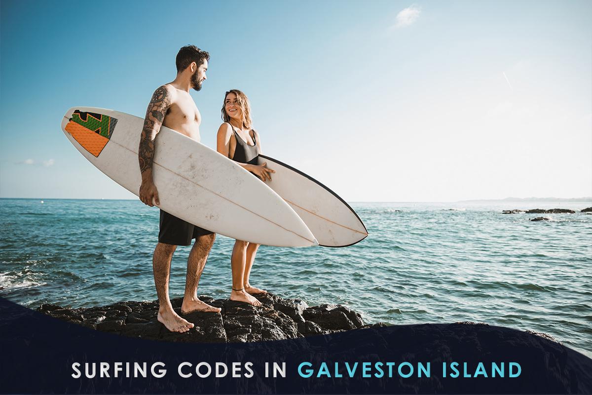 Surfing Codes in Galveston Island