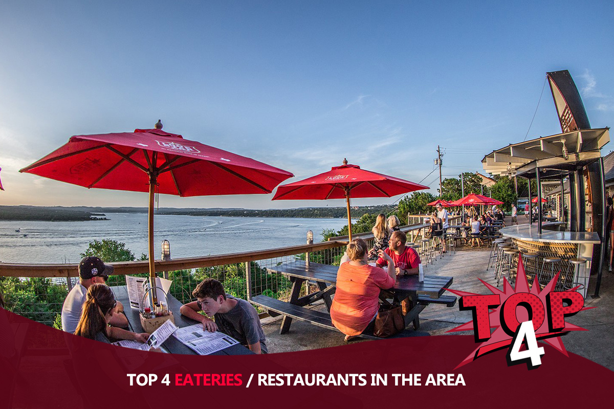 Top 4 Eateries/Restaurants in the Area